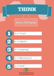 Think before you speak - Digital leaders